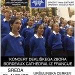 Koncert dekliškega zbora Bordeaux Cathedral