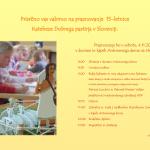 Vabilo na praznovanje 15-letnice KDP v Sloveniji
